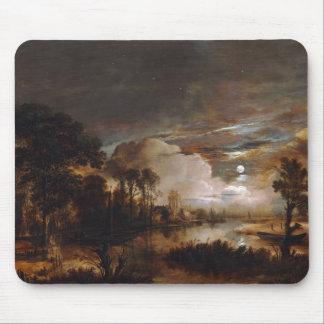 Moonlit Landscape by Aert Van Der Neer (1647) Mousepad