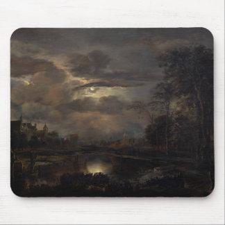 Moonlit Landscape with Bridge Mouse Pad