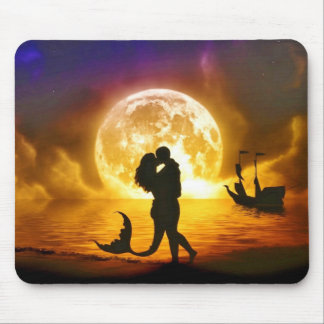 Moonlit Love Mouse Pad