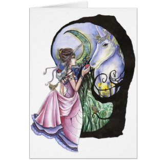 Moonlit Meeting Greeting Card