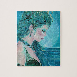 Moonlit mermaid by Renee L Lavoie Jigsaw Puzzle