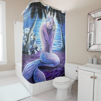 Moonlit Mermaid Shower Curtain