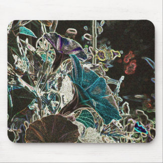Moonlit Morning Glories Mouse Pad