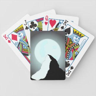 Moonlit Mountain Bicycle Playing Cards