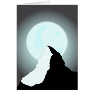 Moonlit Mountain Card