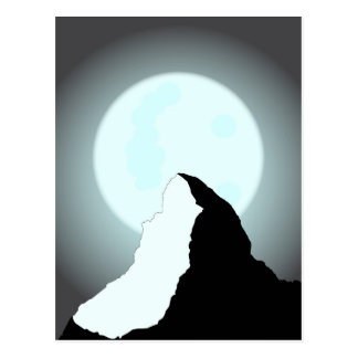Moonlit Mountain Postcard