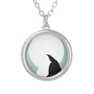 Moonlit Mountain Silver Plated Necklace