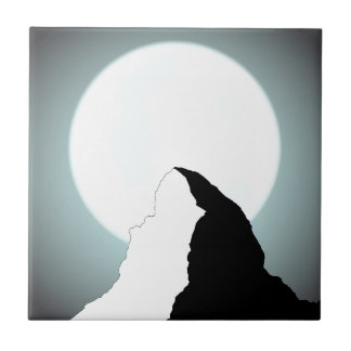 Moonlit Mountain Tile
