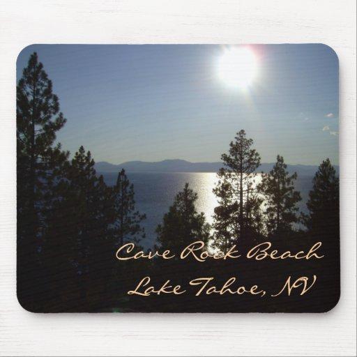 """Moonlit Mousepad """"CAVE ROCK"""" Lake Tahoe"""