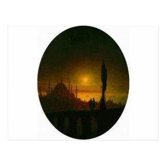 Moonlit night beside the sea by Ivan Aivazovsky Postcard