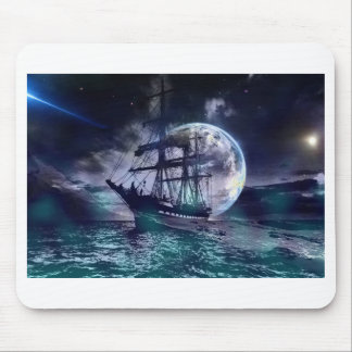 Moonlit Night On the Sea Mouse Pad