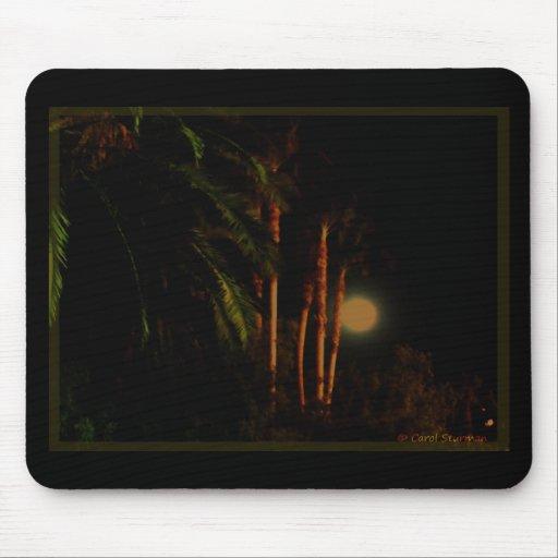 Moonlit Palm Trees Mousepad