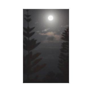 Moonlit Pines Canvas Print