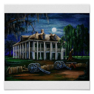 Moonlit Plantation Poster