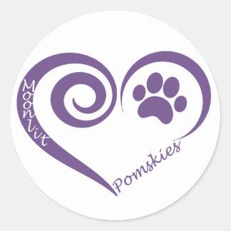 Moonlit Pomsky Sticker