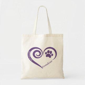 Moonlit Pomsky Tote Bag