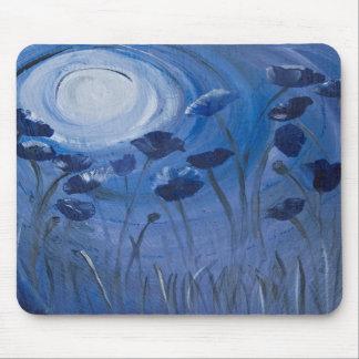 moonlit poppies mousepads