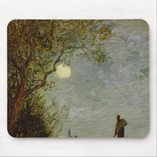 Moonlit Scene with Gondola Mouse Pads