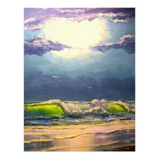 Moonlit Seascape Letterhead
