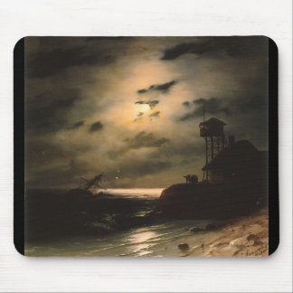 Moonlit Seascape With Shipwreck Mouse Pad