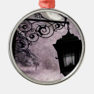MOONLIT Silver-Colored ROUND ORNAMENT