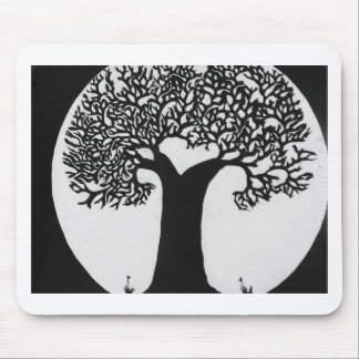 Moonlit Tree Mouse Pad