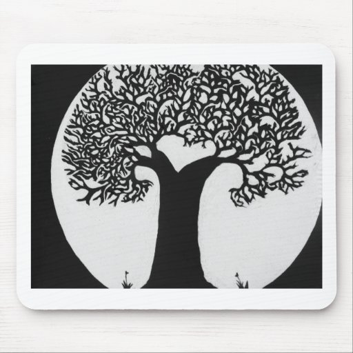 Moonlit Tree Mouse Pads