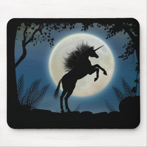 Moonlit Unicorn Mousepad
