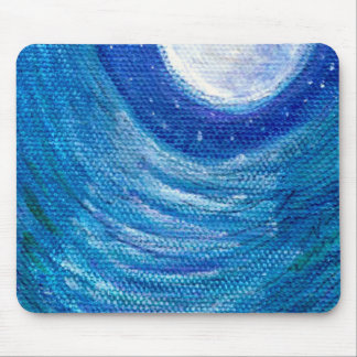Moonlit Waves and Swirls Mouse Pads