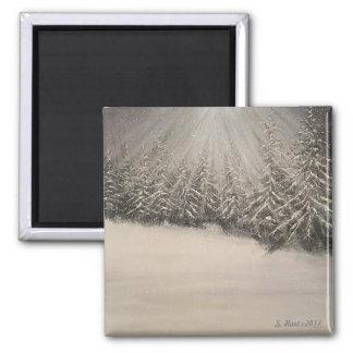 Moonlit Winter Night Magnet