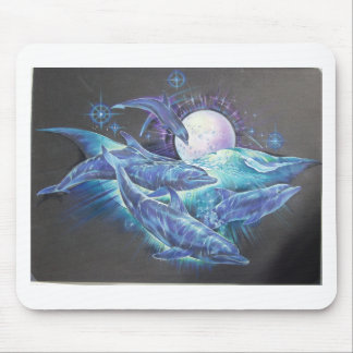 Moonlite Dolphins Mouse Pad