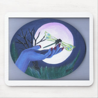 Moonlite Hand and Dragonfly Print Mouse Pad