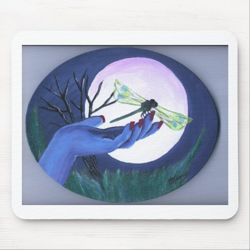 Moonlite Hand and Dragonfly Print Mouse Pads