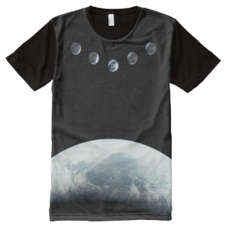 Moonphases 5 Earth in Space All-Over-Print T-Shirt