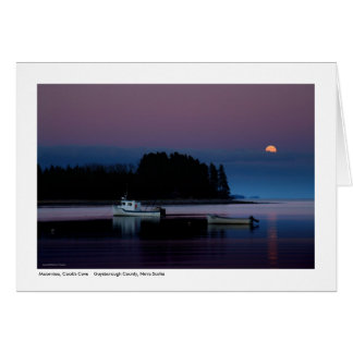 Moonrise, Cook's Cove Card
