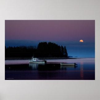 Moonrise, Cook's Cove, Guysborough County, N.S. Poster