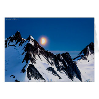 Moonrise on the Juneau Icefield - blank inside Card