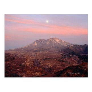Moonrise Over Mount St. Helens Postcard