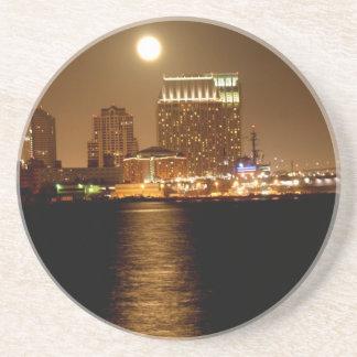moonrise over San Diego Coaster