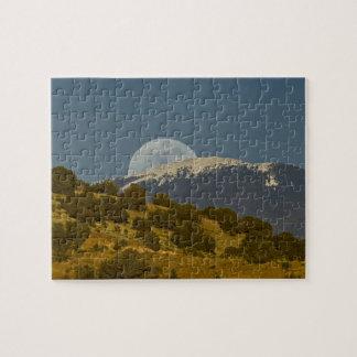 Moonrise over the Sangre de Cristo Mountains, Jigsaw Puzzle