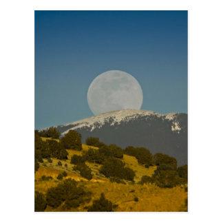 Moonrise over the Sangre de Cristo Mountains, Postcard