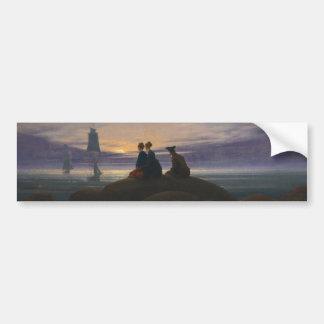 Moonrise Over the Sea Bumper Sticker
