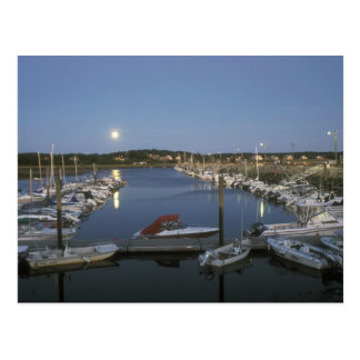 Moonrise over Wellfleet Harbor Cape Cod Postcard
