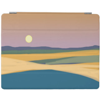 Moonrise simple landscape art iPad cover