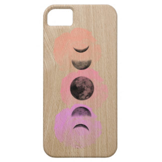 Moons and Roses Light Woodgrain iPhone 5/5S Case