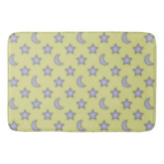 Moons and stars pattern bath mat