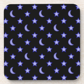 Moons and stars pattern coaster