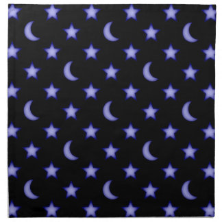 Moons and stars pattern napkin