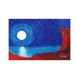 Moons Reflection Canvas Print