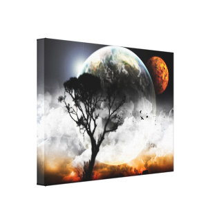 Moons Surreal Fantasy Canvas Print